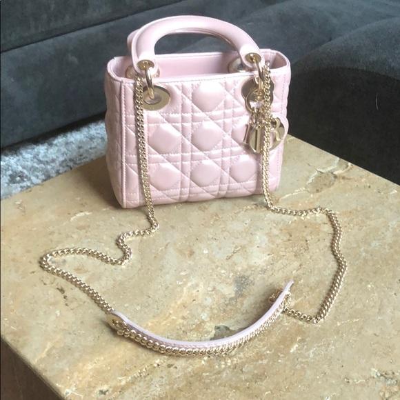 b68a7064da494 Dior Bags | Lady Mini Color Lotus Pearly | Poshmark